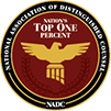 National Association of Distinguished Counsel Nation's Top One Percent